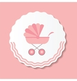 Pink Baby Carriage for vector image vector image