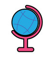 planet earth map globe icon imag vector image vector image