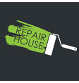 Renovation Painting roller and the trace of paint vector image vector image