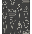 Seamless pattern made of one line sweets vector image vector image