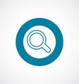 search icon bold blue circle border vector image vector image