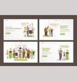set landing page templates happy joyful vector image