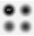 Set of Black Abstract Halftone Circles Logo vector image vector image