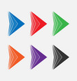 set of bright colored arrows vector image