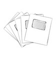 sketch of exercise books vector image
