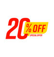 special offer 20 percent off template badge layout
