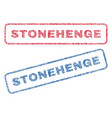 stonehenge textile stamps vector image vector image
