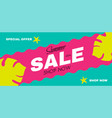 summer sale poster template hot season offer vector image vector image