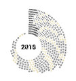 the graphic calendar for 2018 new year is located vector image vector image