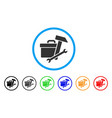 toolbox rounded icon vector image