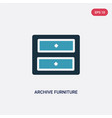 two color archive furniture two drawers icon vector image vector image