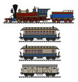 vintage american steam train vector image vector image