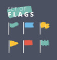 waving flags icon vector image vector image