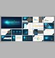 presentation business banner template set vector image