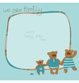bear family photo frame vector image