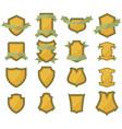 set of shields logo vector image
