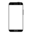 Modern realistic black smartphone vector image
