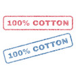 100 percent cotton textile stamps vector image