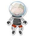 a sticker template with an astronaut cartoon