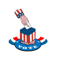 American Election Voting Ballot Box Retro vector image