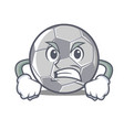 angry football character cartoon style vector image vector image