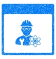 Atomic Engineer Calendar Page Grainy Texture Icon vector image vector image