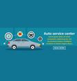 auto service center banner horizontal concept vector image vector image