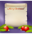 Background for the Christmas greetings vector image vector image