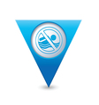 beach closed symbol map pointer blue vector image vector image
