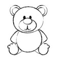bear teddy isolated icon vector image vector image