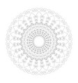 black and white circular round mandala hearts vector image vector image