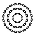 black and white metal chain vector image vector image