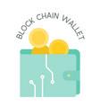 block chain wallet vector image vector image