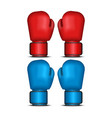 boxing gloves set 3d realistic isolated on white vector image