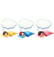 Boy and girl sleeping under the blanket vector image vector image