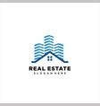 building - logo real estate sign vector image vector image