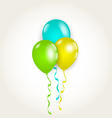 Bunch party balloons for your birthday vector image vector image