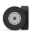 bus or truck wheel stock vector image vector image
