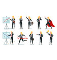 business woman character office professional vector image