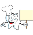 Cartoon Chef Tooth vector image vector image