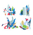cleaning services isolated icons household chores vector image