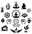 collection relaxation and meditation and yoga vector image