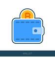 crypto wallet icon vector image vector image