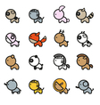 Cute Animals Icon Set 2 vector image