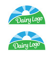 dairy food product logos vector image