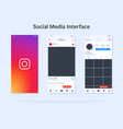 design of smartphone with interface of application vector image