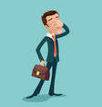 disappointment frustration facepalm businessman vector image