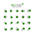 easy icons 10d exchange vector image vector image