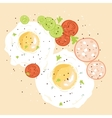 Egg breakfast vector image
