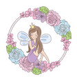 fairy flowers wedding set vector image